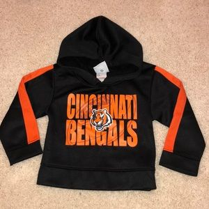 NFL team store Bengals dry fit 2T hoodie